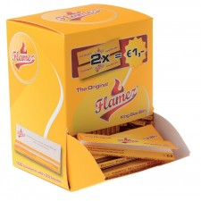 Tower Box 100 Carnets de Feuilles Flamez Yellow King Size Slim
